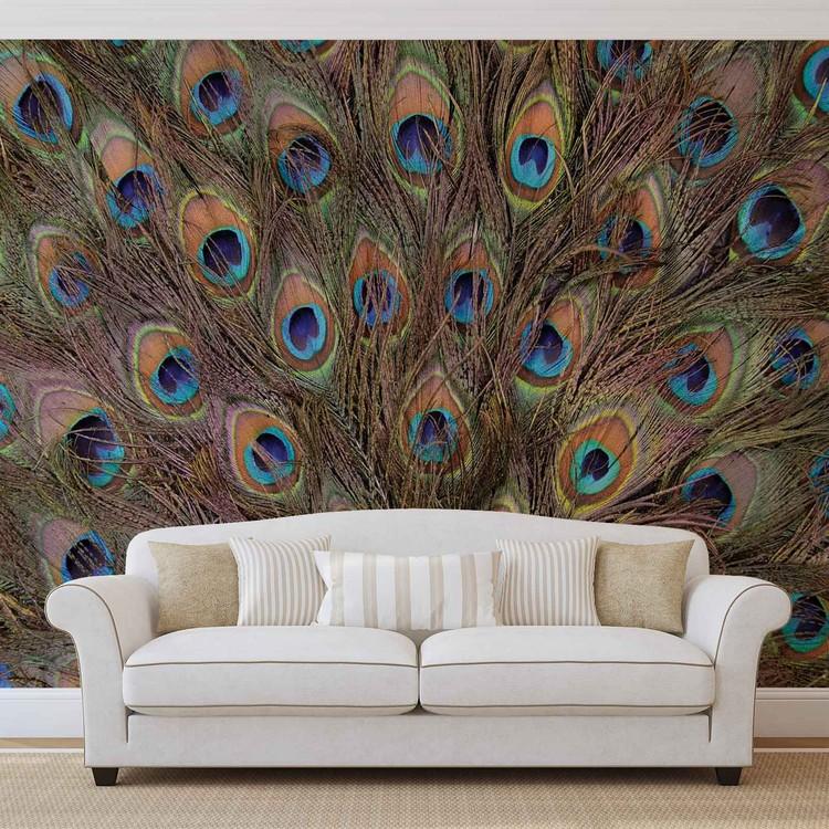 Fotomural Plumas de pavo real