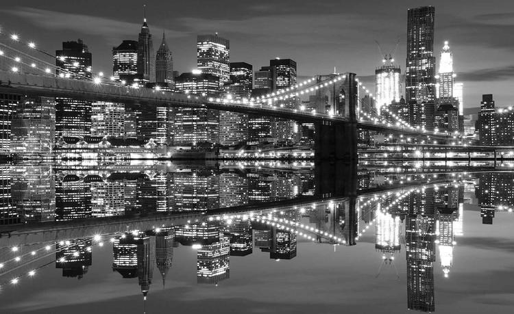 Fotomurale  Puente de Brooklyn del horizonte de New York City