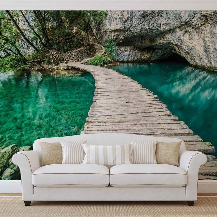 Fotomurale  Puente de madera en la laguna