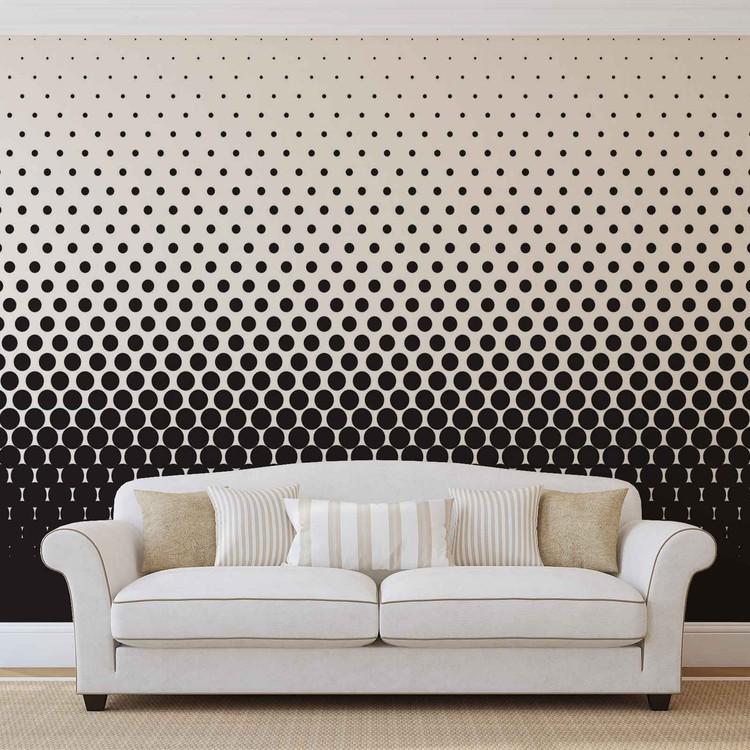 Fotomural Puntos negros negros abstractos