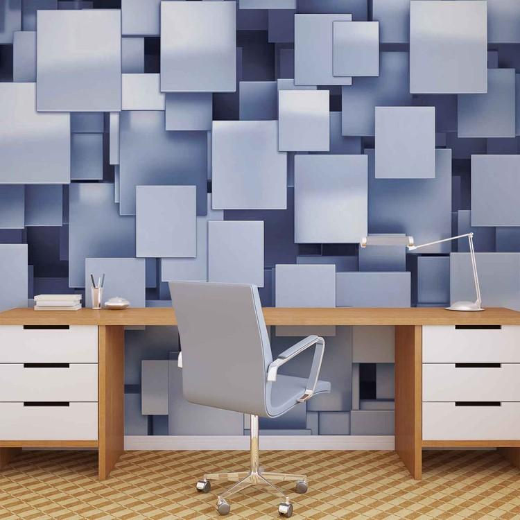 Fotomural Resumen cuadrados azul moderno