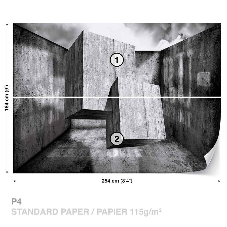 Fotomural Resumen Moderno Concreto