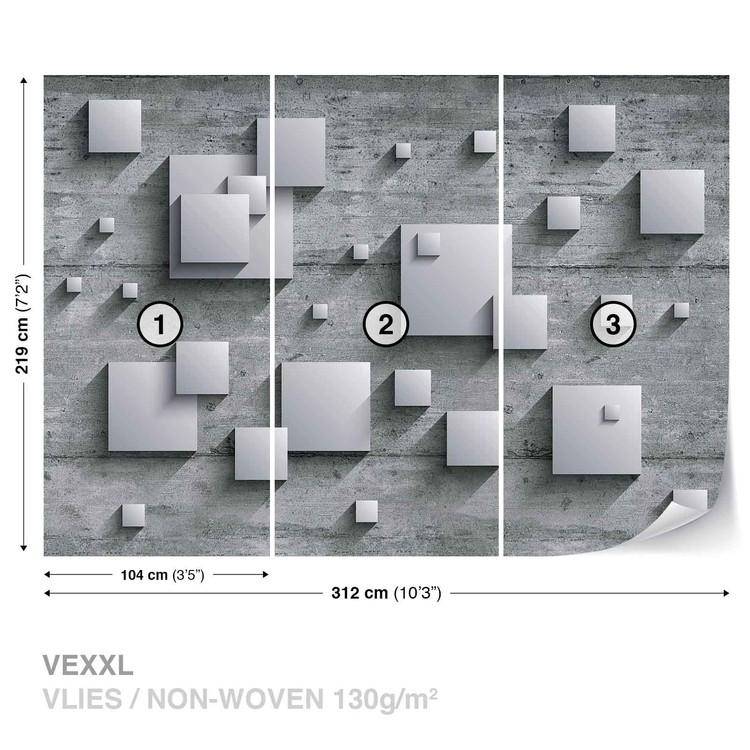 Fotomural Resumen Moderno Plata Gris