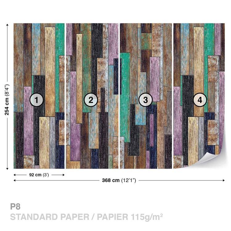 Fotomural Tablones de madera Pintado rustico
