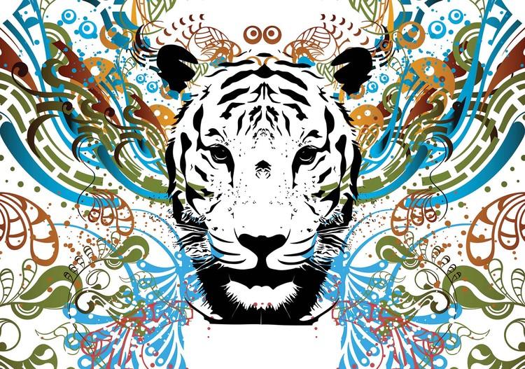 Fotomural Tigre abstracto