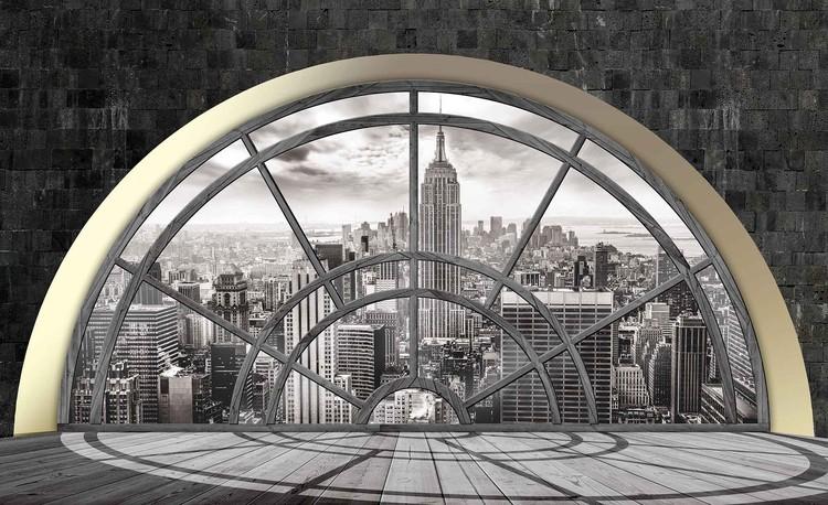 Fotomurale  Ventana del horizonte de la ciudad de Nueva York