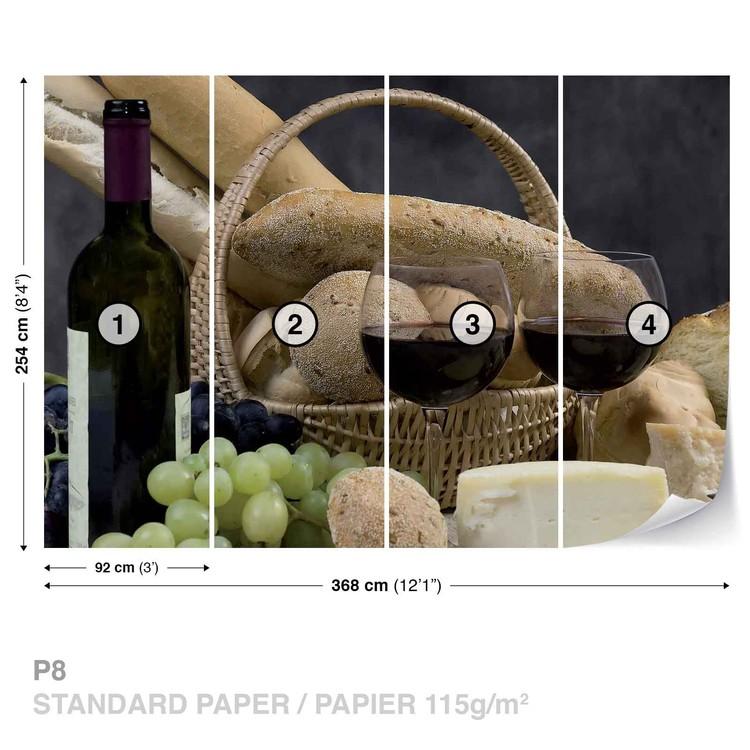 Fotomural Vino y pan