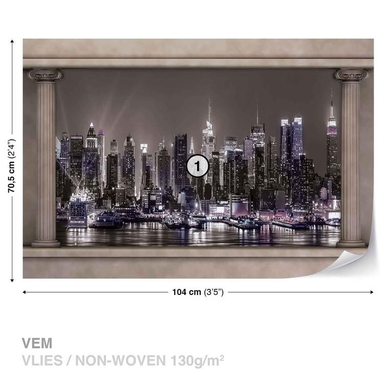 Fotomural  Vista de la ventana del horizonte de la ciudad de Nueva York