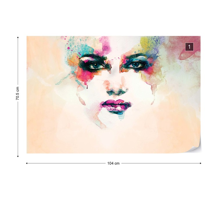 Fotomural  Watercolour Face