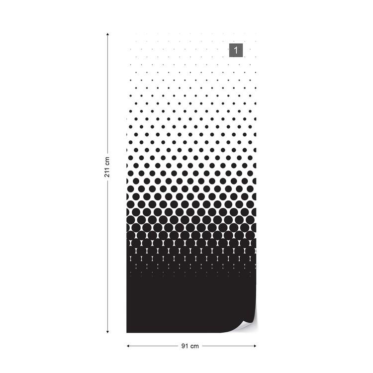 Abstract Black Black Dots Fototapet