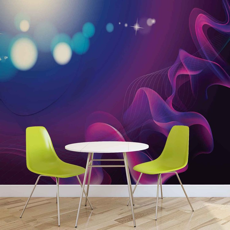 Abstract Light Pattern Blue Purple Fototapet