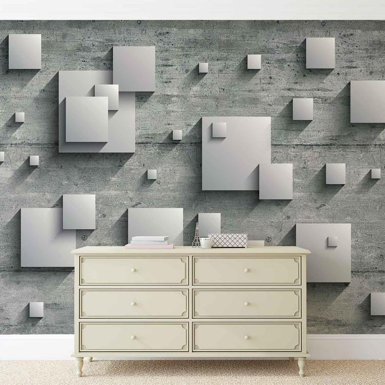 Abstract Modern Grey Silver Fototapet