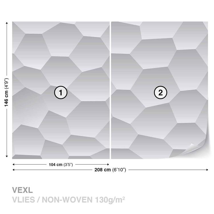 Abstract Modern Monochrome Design Fototapet