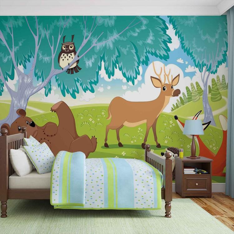 Animals In Forest Fototapet