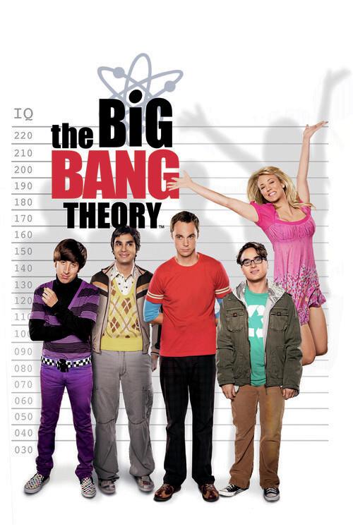 Big Bang-teorin - IQ-mätare Fototapet