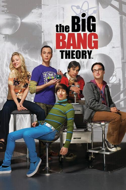 Big Bang-teorin - Tecken Fototapet