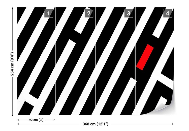 Black Stripes Fototapet