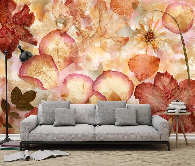 Blommor Vinyl väggmålningar