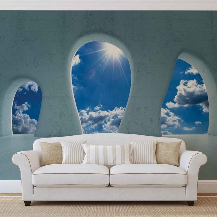Blue Sky View Modern Fototapet