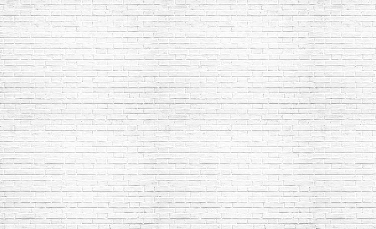 Brick Wall White Fototapet