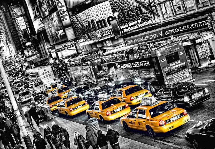CABS QUEUE Fototapet