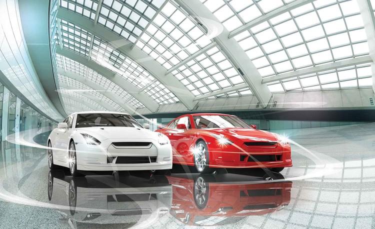 Cars Transport Fototapet