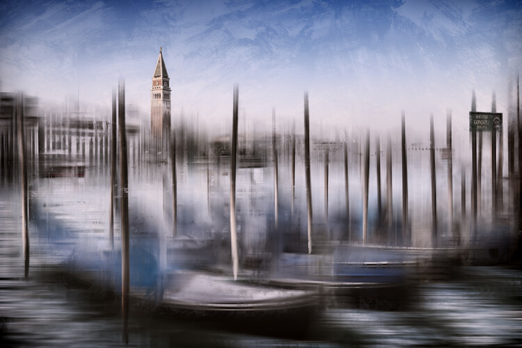 City Art VENICE Grand Canal and St Mark's Campanile Fototapet