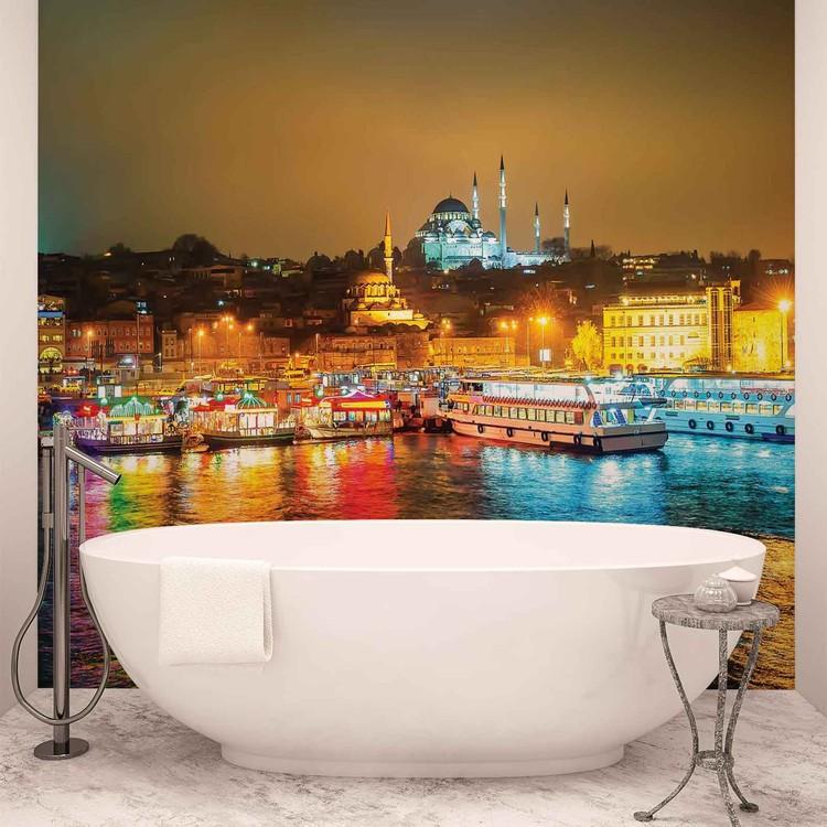 City Turkey Bosphorus Multicolour Fototapet