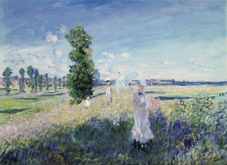 Claude Monet - The Promenade, Argenteuil, 1873 Fototapet