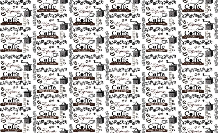 Coffee Pattern Fototapet