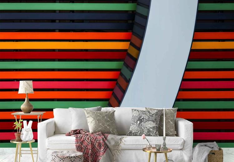 Colour Stripes Fototapet