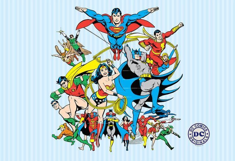 DC Comics Collage Fototapet