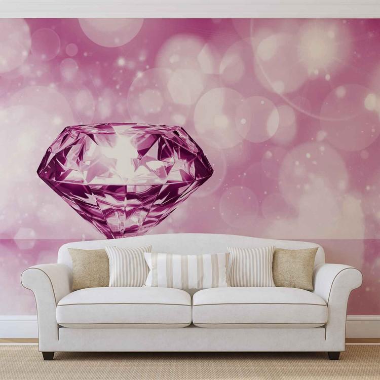Diamond Pink Fototapet