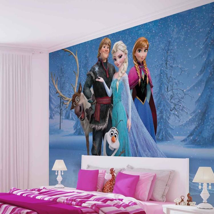 Disney Frozen Elsa Anna Olaf Sven Fototapet