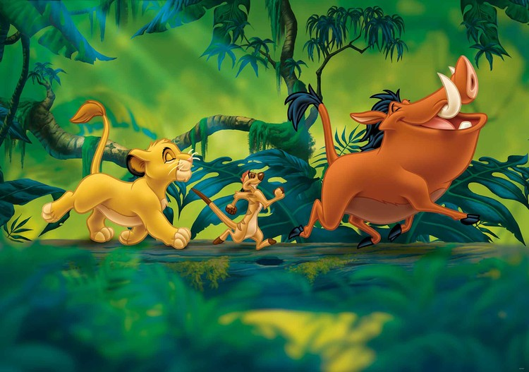 Disney Lion King Pumba Simba Fototapet