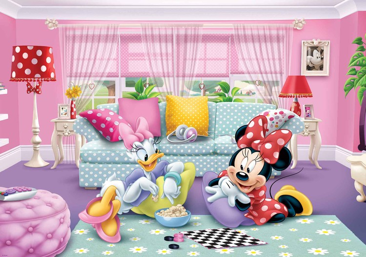 disney minnie mouse fototapet tapet p. Black Bedroom Furniture Sets. Home Design Ideas