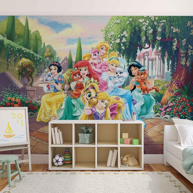 Disney Princesses Rapunzel Ariel Fototapet