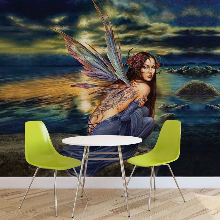 Fairy Sea Flowers Wings Fototapet