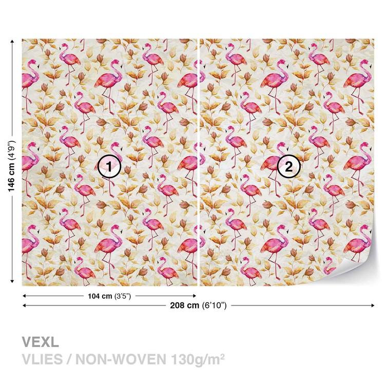 Flamingos Bird Pattern Fototapet