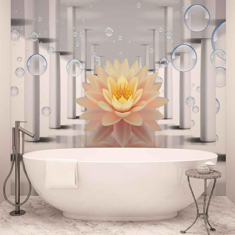 Flower Bubbles Pattern Fototapet