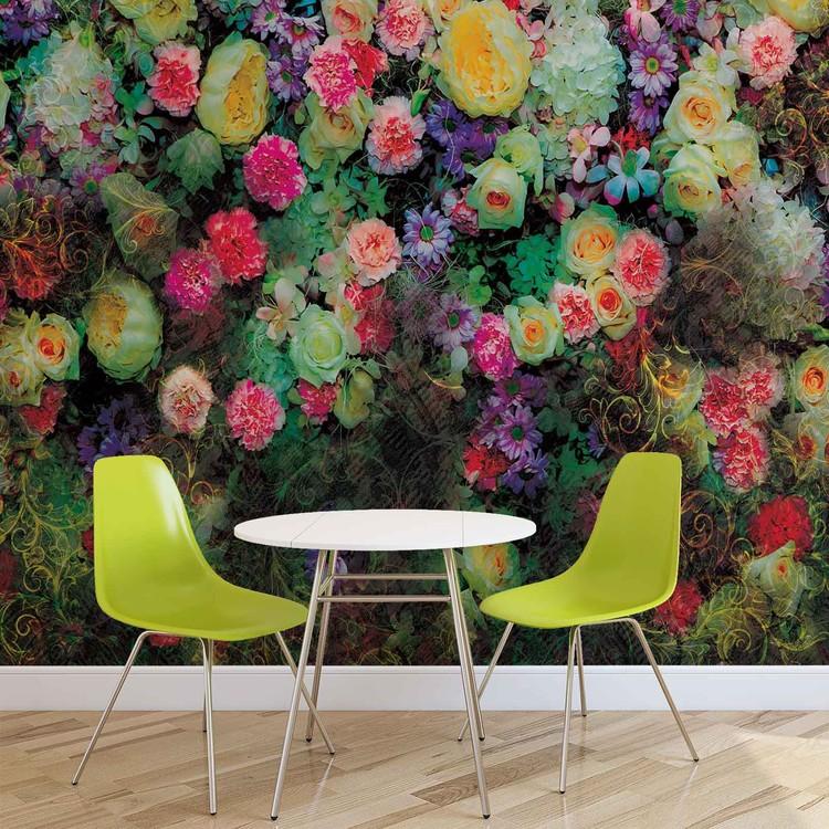 Flowers Colours Design Fototapet