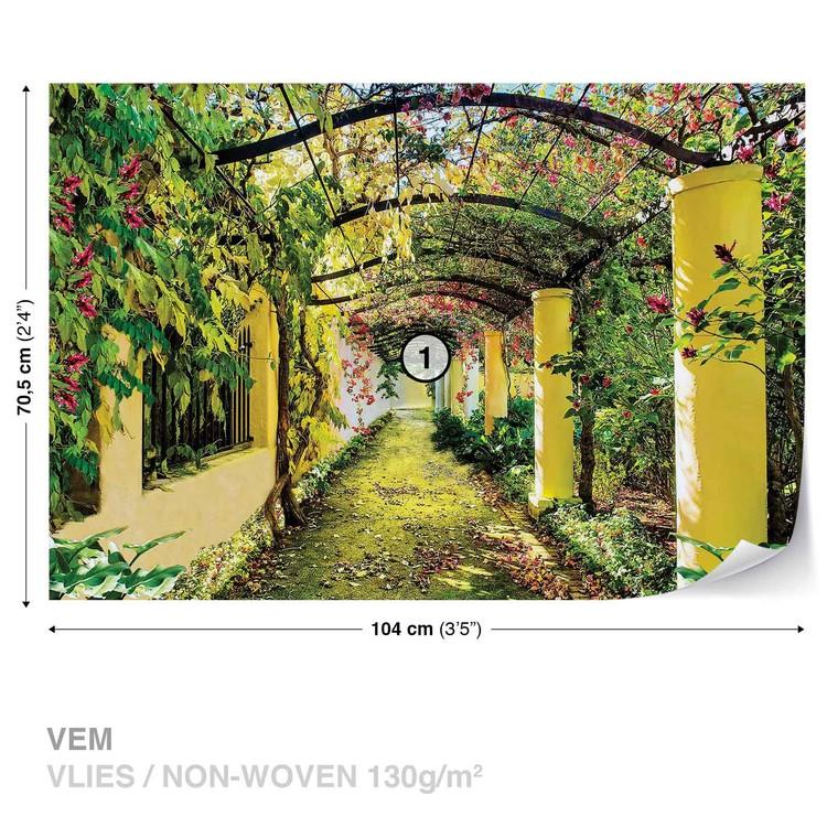 Flowers Floral Garden Fototapet