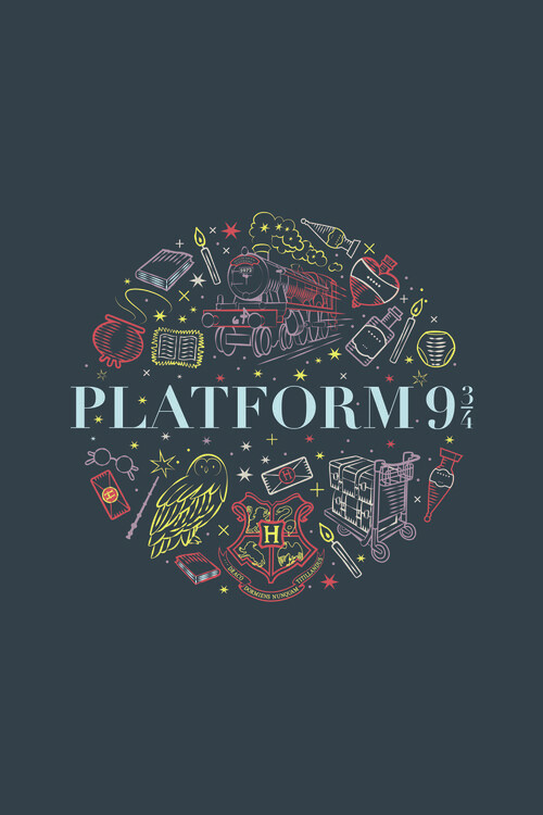Harry Potter - Plattform 9 3/4 Fototapet