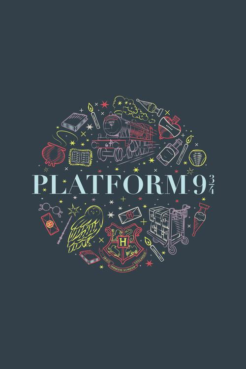Harry Potter - Plattform 9 Fototapet