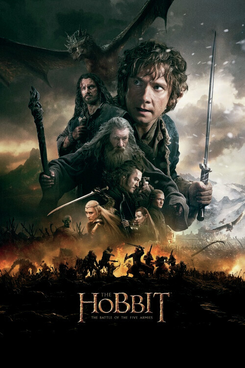 Hobbit - Femhäraslaget Fototapet