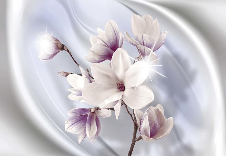 Magnolia Modern Floral Design Blue Fototapet