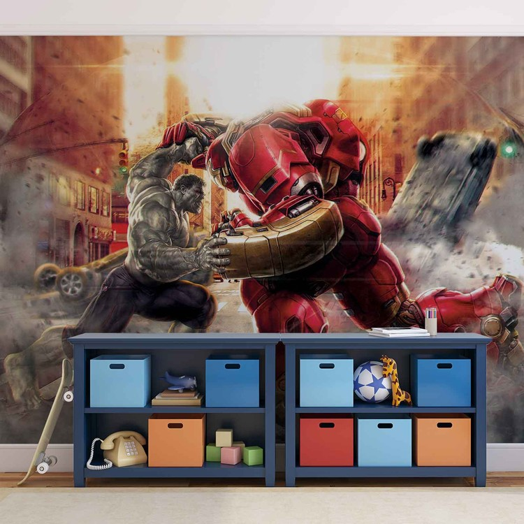 Marvel Avengers Fighting Allies Fototapet