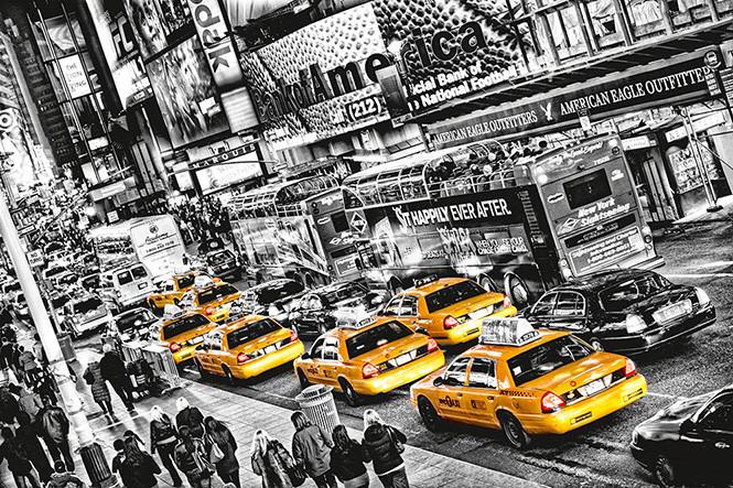 MICHAEL FELDMANN - cabs queue Fototapet