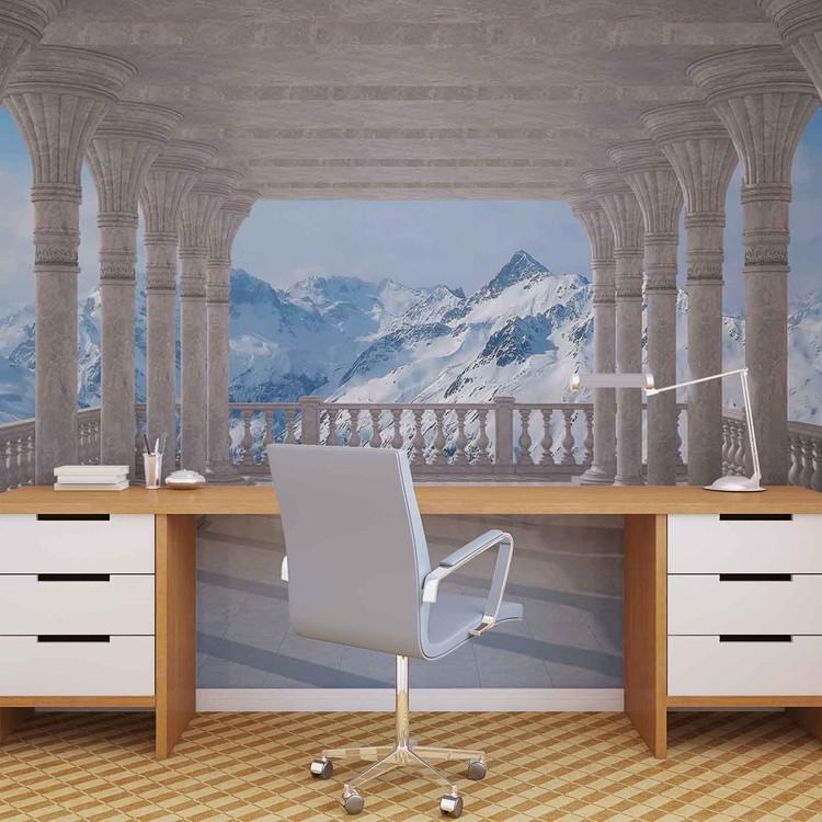 Mountain Scene Through The Arches Fototapet
