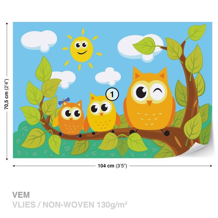 Owls Tree Fototapet